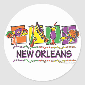 NEW-ORLEANS-SQUARES-eps copy Round Sticker
