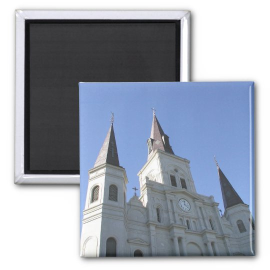New Orleans St. Louis Cathedral Art Photo Magnet