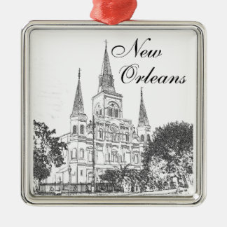 New Orleans St. Louis Cathedral Christmas Ornament