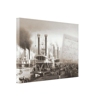 New Orleans Steamboat Canvas Print