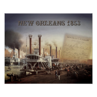 New Orleans Steamboat Poster