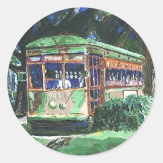 New Orleans Street Car Classic Round Sticker