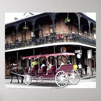 New Orleans Street Scene - Art Print