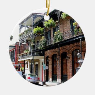 New Orleans Street Scene Christmas Ornament