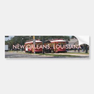 New Orleans Streetcar Bumper Sticker