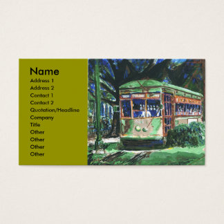 New Orleans Streetcar, Business Card
