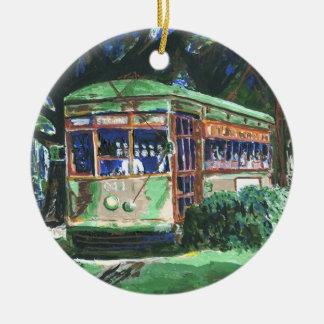New Orleans Streetcar Christmas Ornament