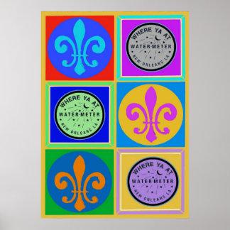 New Orleans Symbols Poster