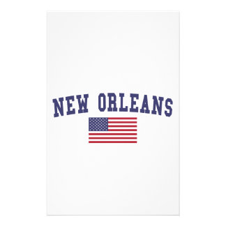 New Orleans US Flag Personalised Stationery
