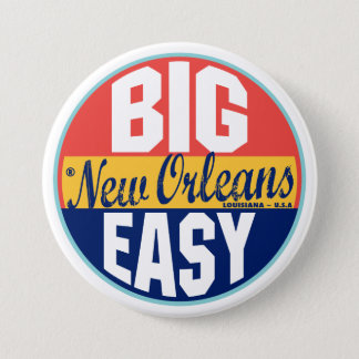 New Orleans Vintage Label 7.5 Cm Round Badge