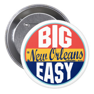 New Orleans Vintage Label 7.5 Cm Round Badge