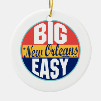 New Orleans Vintage Label Christmas Ornament