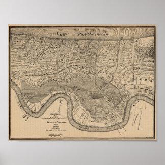 New Orleans Vintage Map Poster