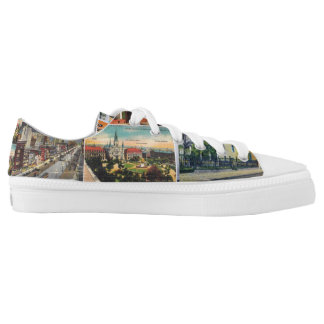 New Orleans Vintage Postcard LowTop Sneaks Printed Shoes