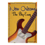 New Orleans vintage style travel poster