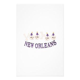 New Orleans Voodoo Skulls Stationery Design