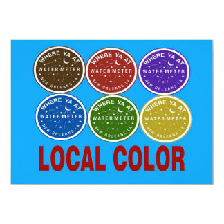 New Orleans Water Meter Local Colors 13 Cm X 18 Cm Invitation Card