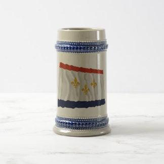 New Orleans Waving Flag Beer Steins