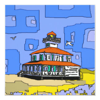 New Orleans West End Lighthouse 13 Cm X 13 Cm Square Invitation Card