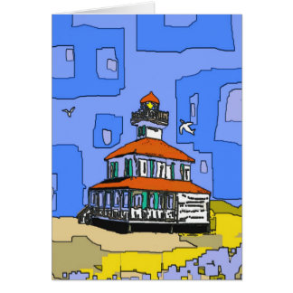 New Orleans West End Lighthouse Greeting Card