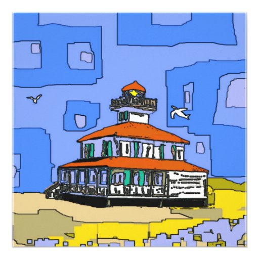 New Orleans West End Lighthouse Custom Announcement