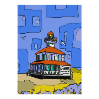 New Orleans West End Lighthouse Poster