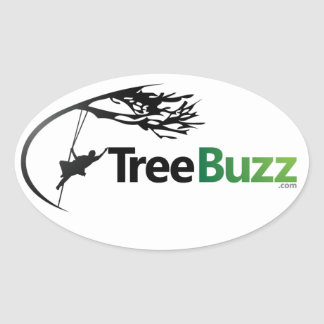 New Oval Sticker With TreeBuzz Logo