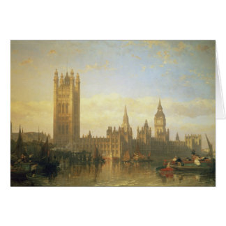 New Palace of Westminster from the River Thames Card