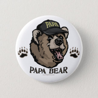 New Papa Bear Father's Day Gear 6 Cm Round Badge