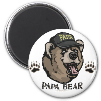 New Papa Bear Father's Day Gear 6 Cm Round Magnet