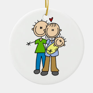 New Parents New Baby T-shirts and Gifts Christmas Ornament