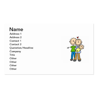 New Parents New Baby T-shirts and Gifts Pack Of Standard Business Cards