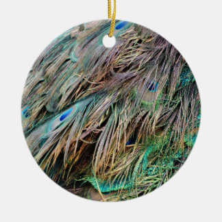 New Peacock Feathers Nice Spread Christmas Ornament