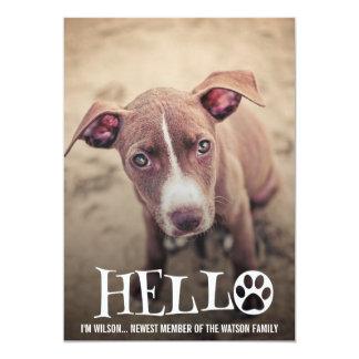 NEW PET ADOPTION ANNOUNCEMENT PHOTO INVITE
