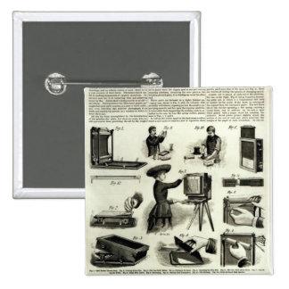 New photographic apparatus 15 cm square badge