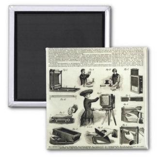 New photographic apparatus fridge magnets