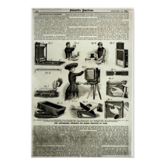 New photographic apparatus poster