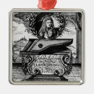 New Piano Practise, 1689 Silver-Colored Square Decoration