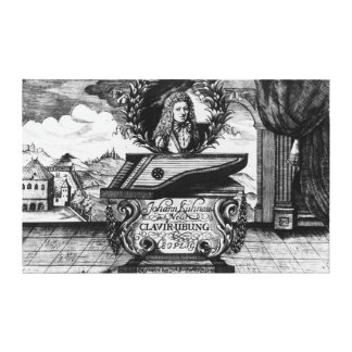 New Piano Practise, 1689 Stretched Canvas Print