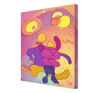 New Planet Dancers Abstract Art Canvas Print