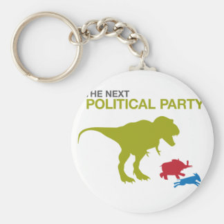 New Political Party Basic Round Button Key Ring