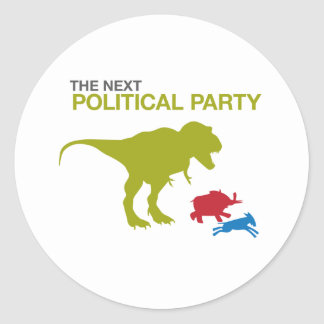 New Political Party Round Sticker