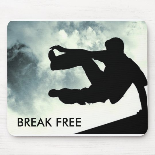 NEW polyester mousepad mouse pad mat BREAK FREE