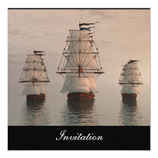 New Popular Invitation Three Sailing Ships