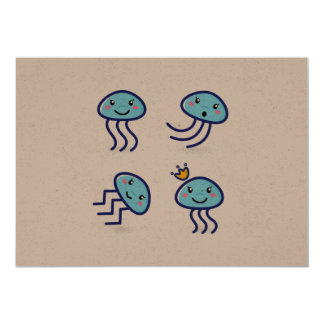 New postcard in shop : with Underwater creatures 13 Cm X 18 Cm Invitation Card