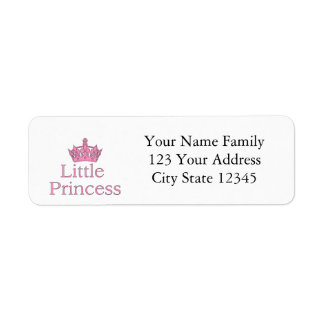 New Princess - a Royal Baby! Return Address Label