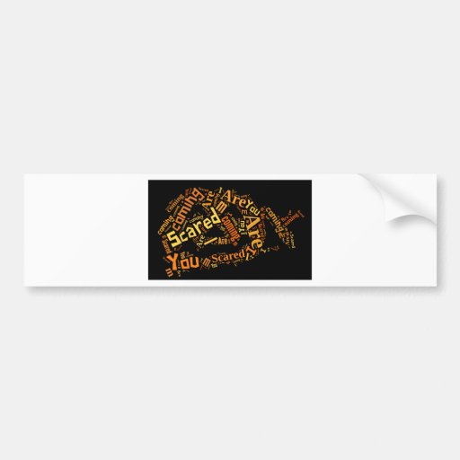 New Pumpkin Halloween Design Bumper Sticker
