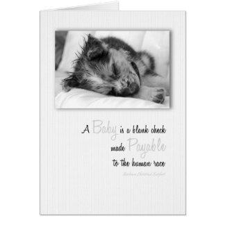 New Puppy Baby Congratulations Card