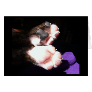 New puppy paws card