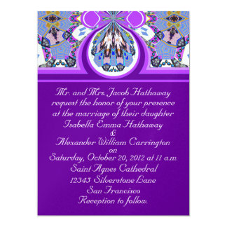 New Purple & Blue Ice Wedding Invitation Cards